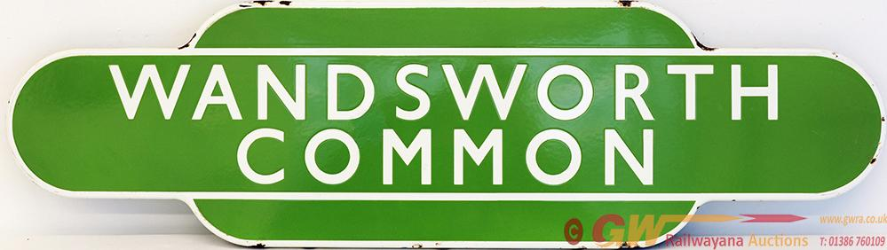Totem BR(S) WANDSWORTH COMMON, F/F Light Green. Ex