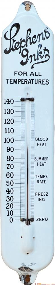 Advertising Enamel Thermometer Sign 'Stephens