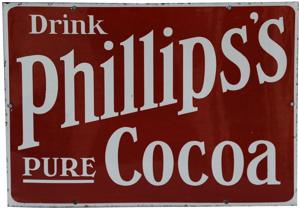 Enamel Advertising Sign 'Drink Phillips's Pure
