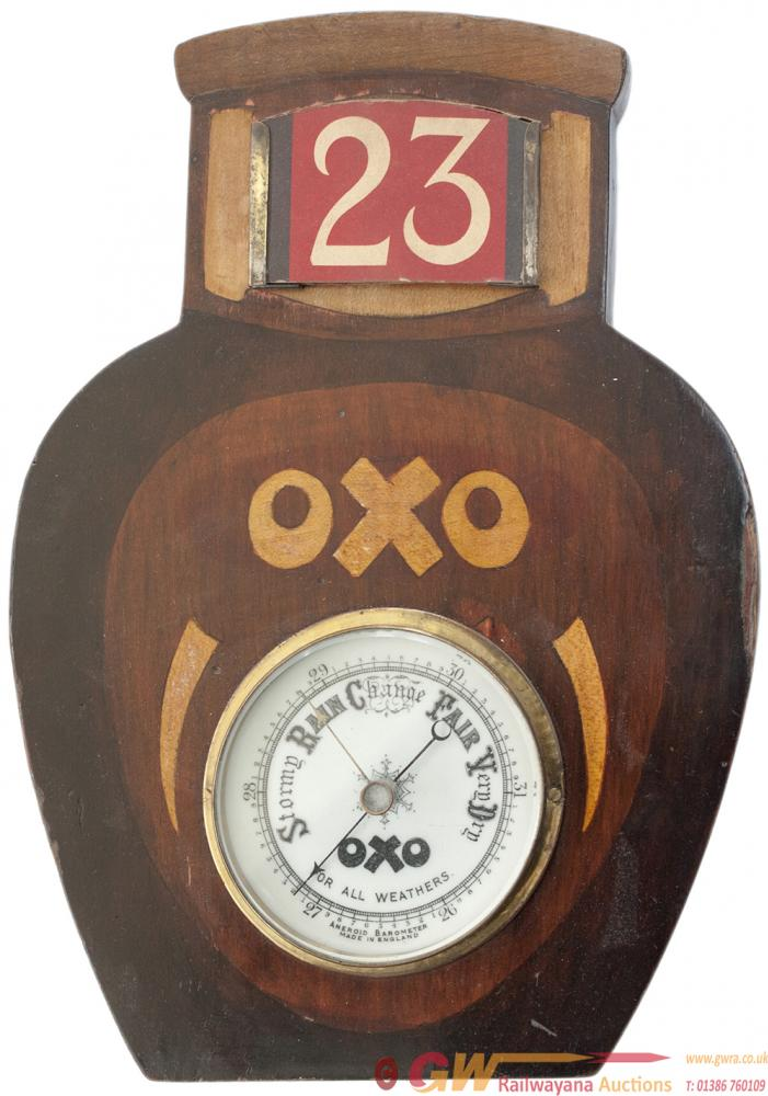 OXO Advertising Barometer In The Shape Of A Jar Of