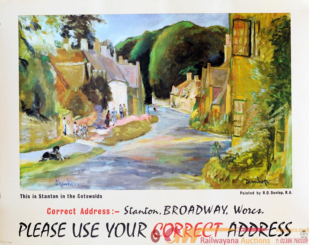 Poster GPO 'This Is Stanton In The Cotswolds' By
