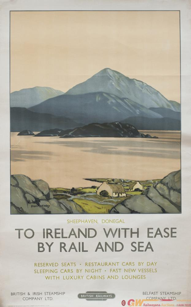 Poster BR SHEEPHAVEN, DONEGAL By Paul Henry.