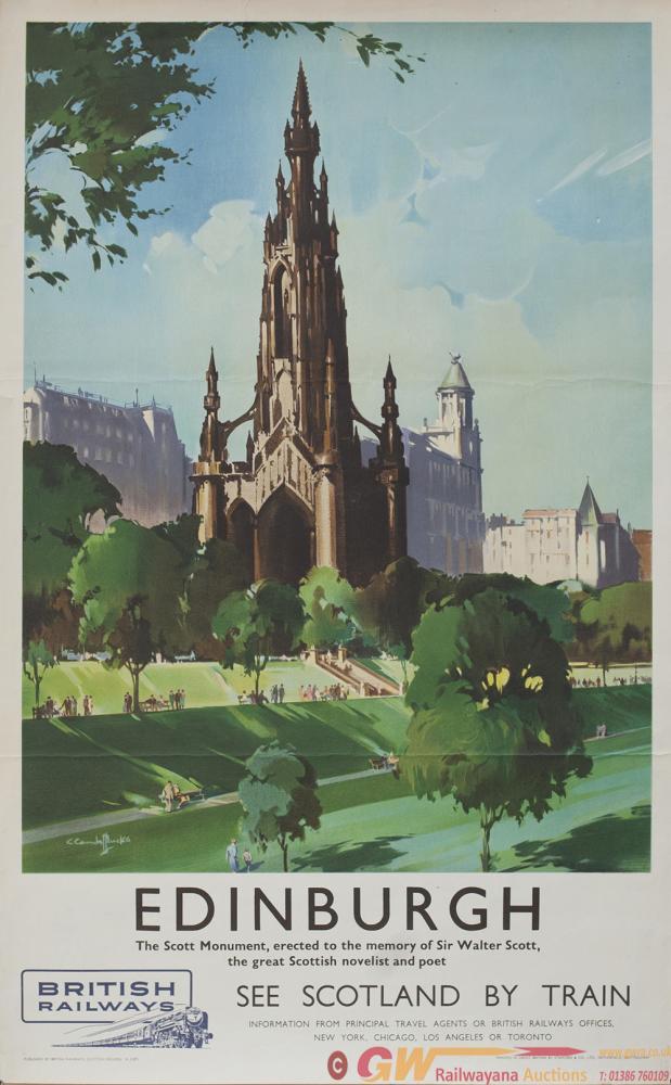 Poster BR EDINBURGH THE SCOTT MONUMENT By Claude