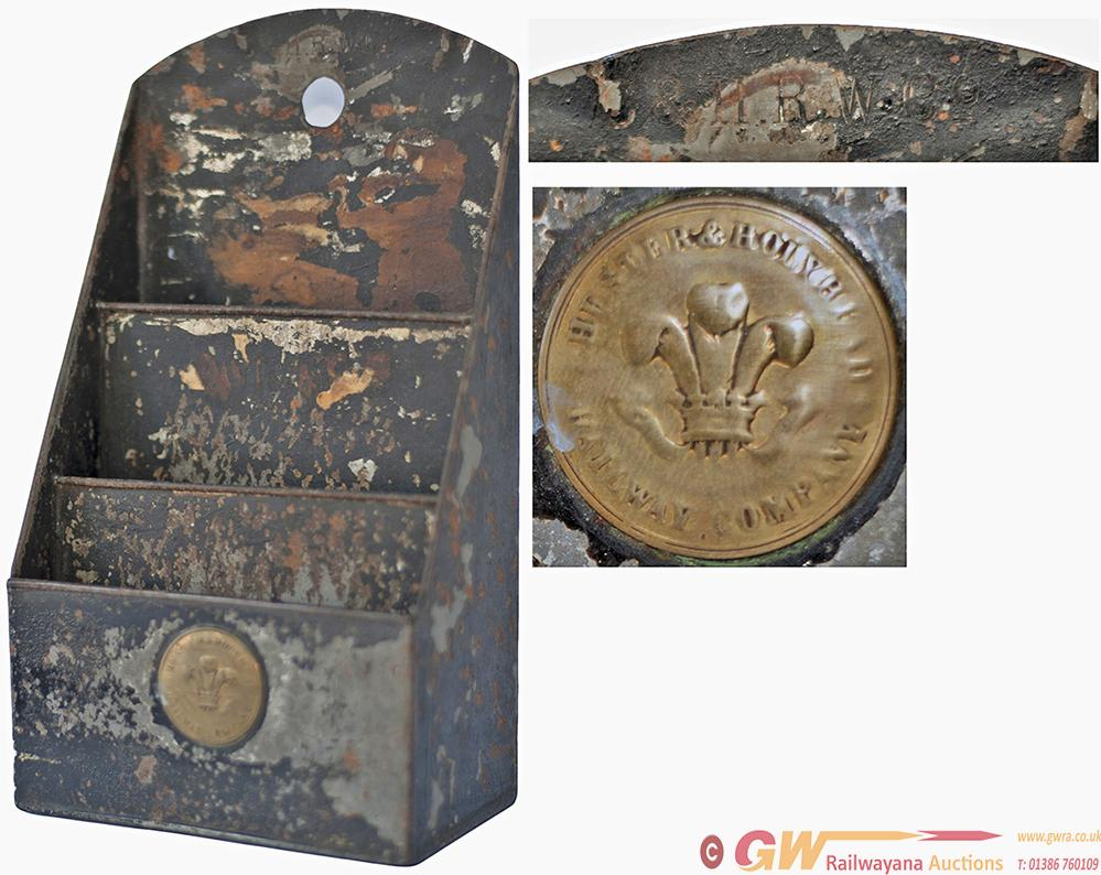 Chester And Holyhead Railway Tin Plate Letter