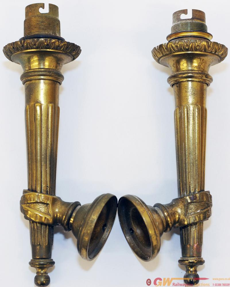 Pullman Carriage Lamps, An Identical Pair Of Wall