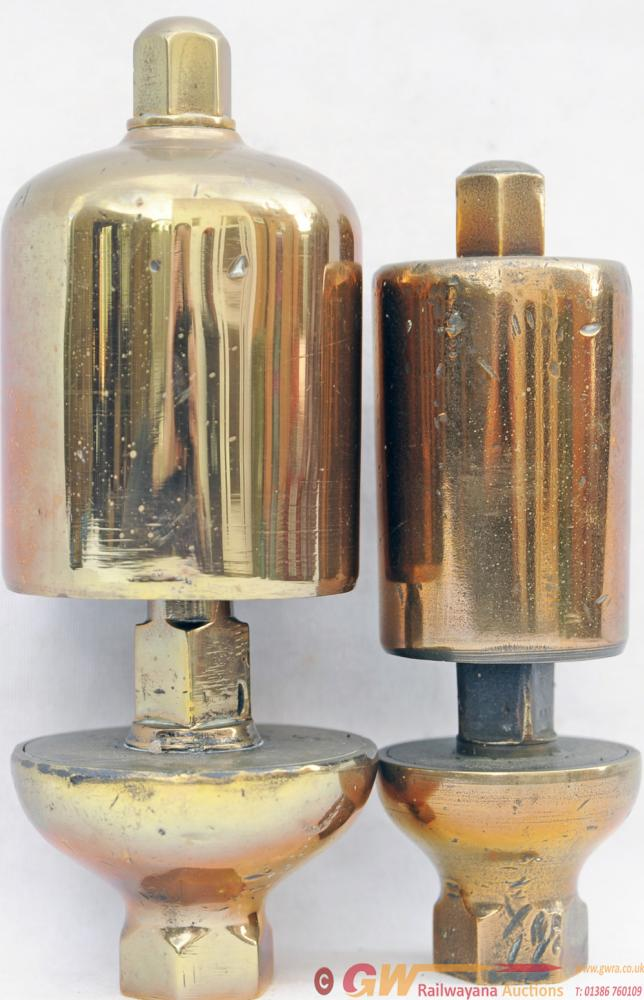 GWR Locomotive Whistles, A Pair Comprising Small