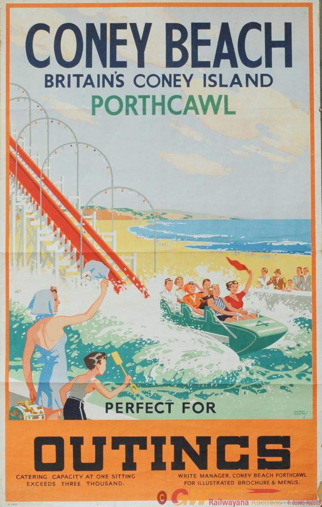 Poster 'Porthcawl Coney Beach' By Jack Burton