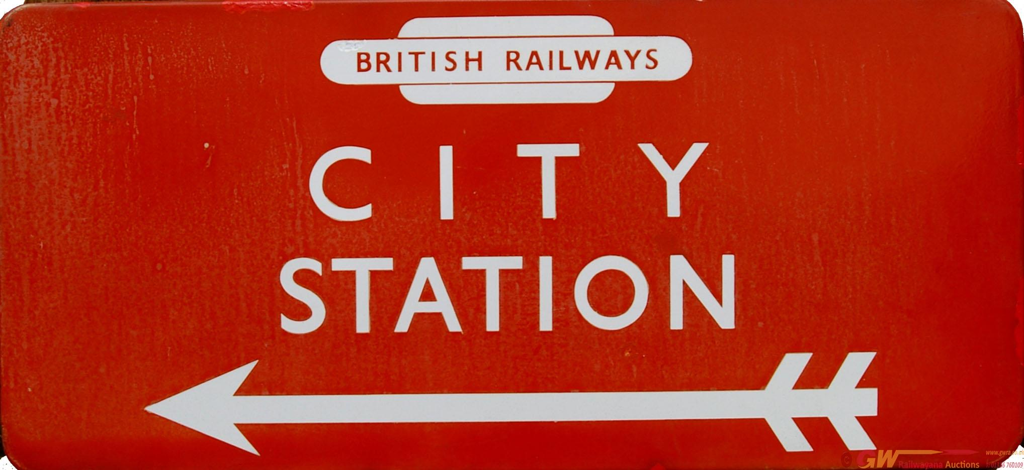 British Railways (NE) Enamel Station Direction