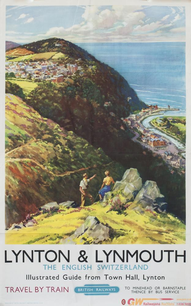 Poster BR(W) LYNTON & LYNMOUTH THE ENGLISH