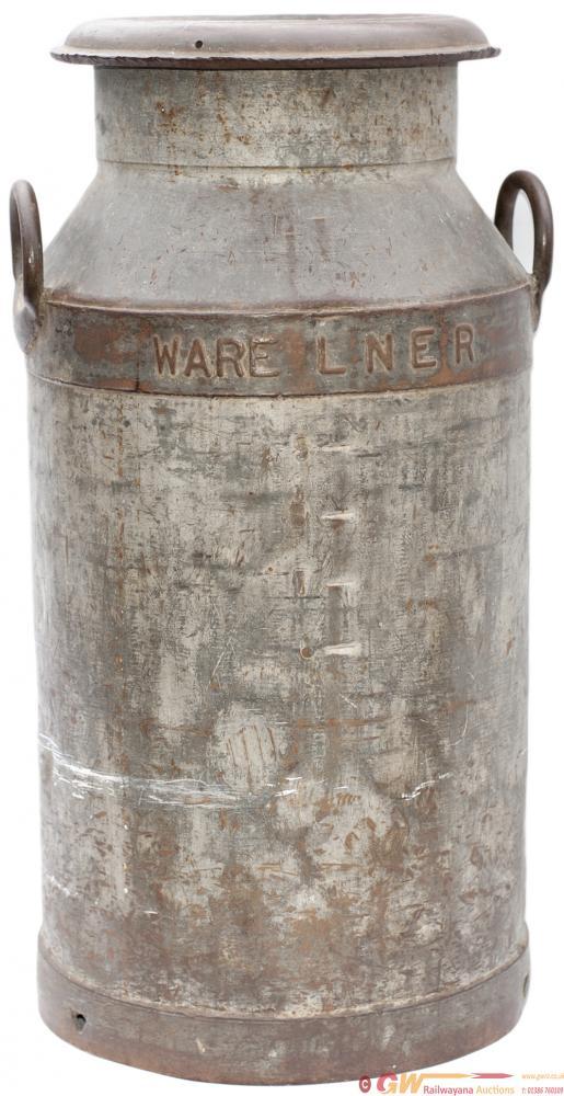 LNER Galvanised Steel MILK CHURN Embossed WARE