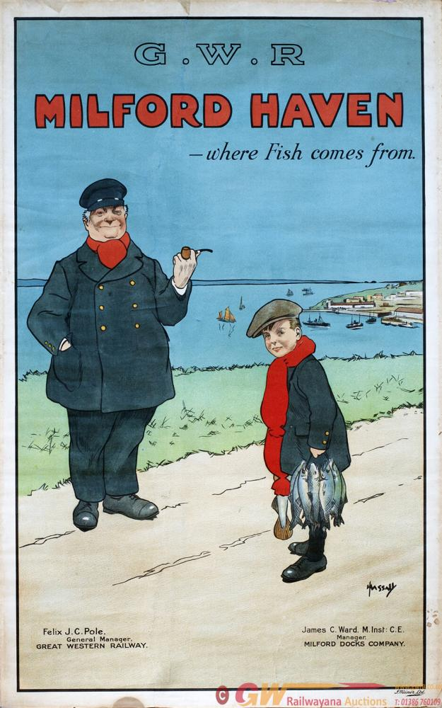 Poster GWR MILFORD HAVEN - WHERE FISH COMES FROM