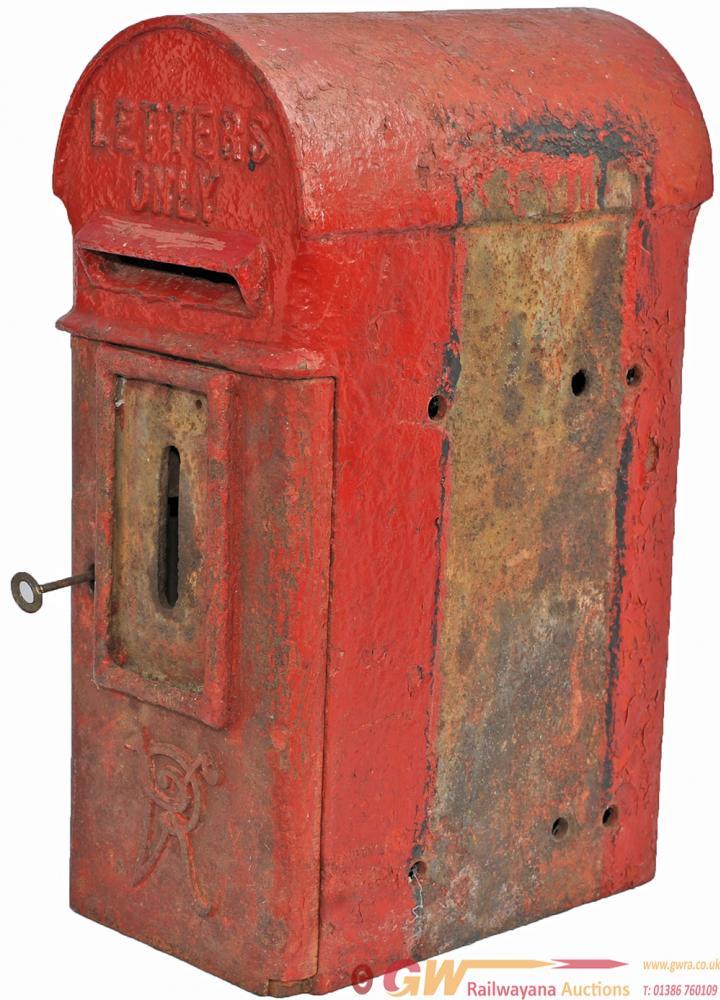 Victorian Cast Bread Box Type Post Box Complete