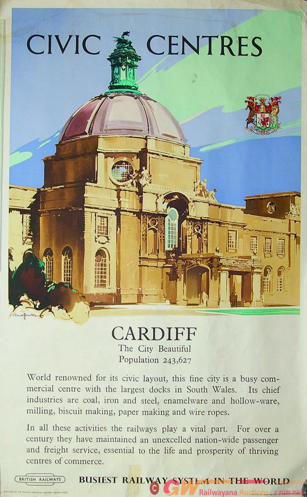 Poster, Civic Centres - Cardiff The City