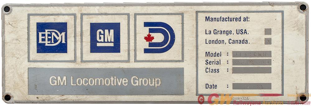 Diesel Worksplate Rectangular Stainless Steel GM