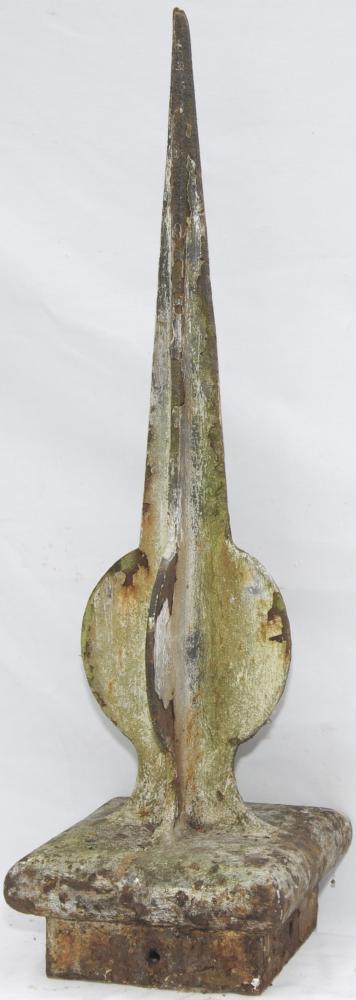 LYR Signal Finial, Cast Iron, Open Orb Style, 30