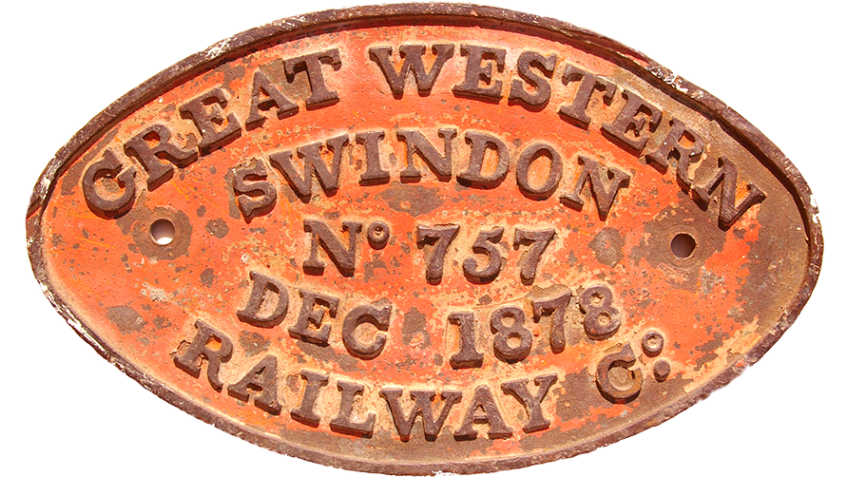 Collectable Antique Railwayana Auction World Records - GW Railwayana - Great Western Railway Locomotive Worksplate