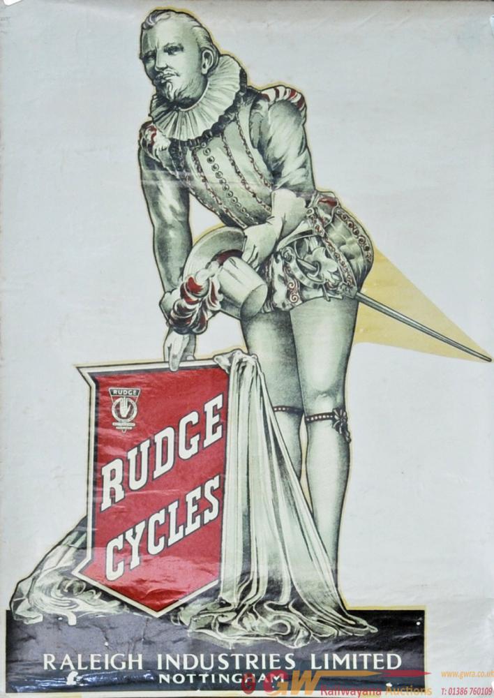 Rudge Cycles Original Dealers Window Transfer