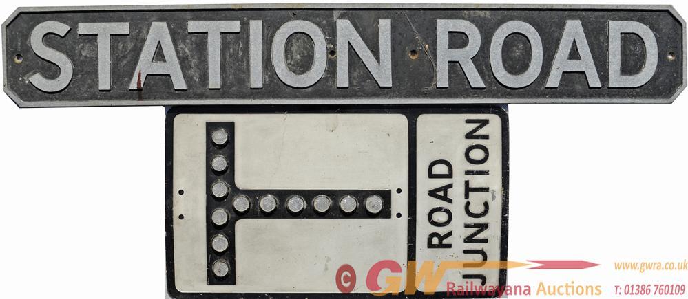 Pressed Aluminium Road Sign ROAD JUNCTION Together