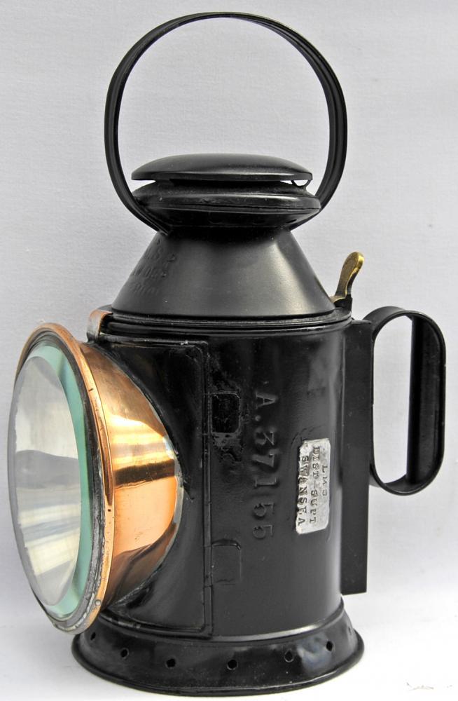 LMSR Handlamp, LNWR Pattern Stamped LMSR C&W Dep