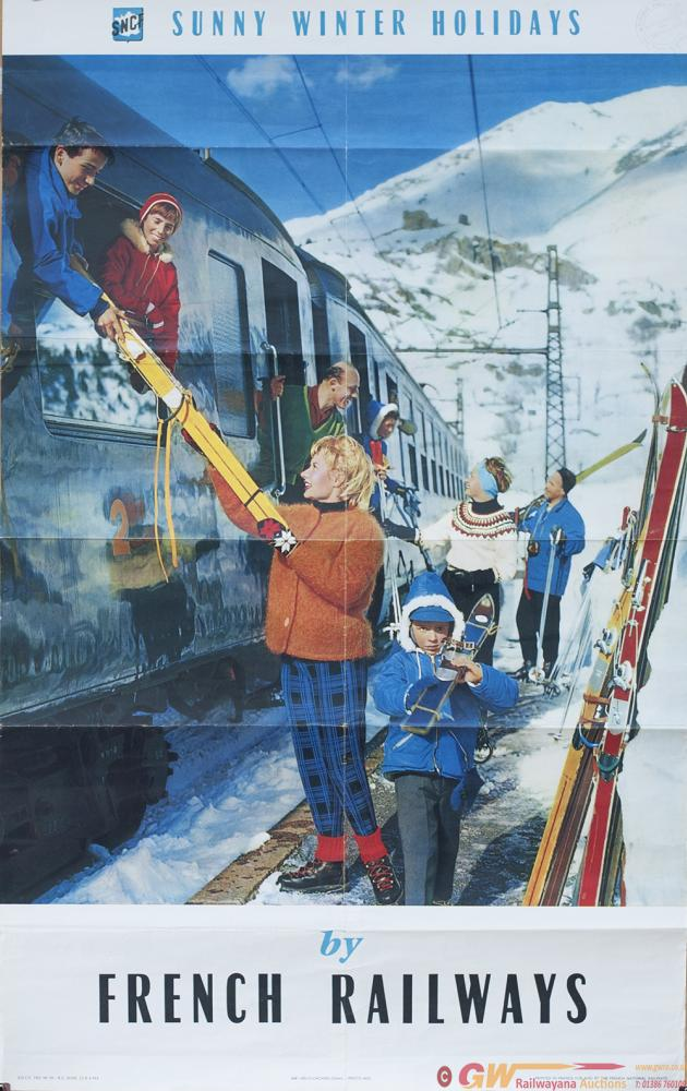 Poster SNCF French Railways SUNNY WINTER HOLIDAYS
