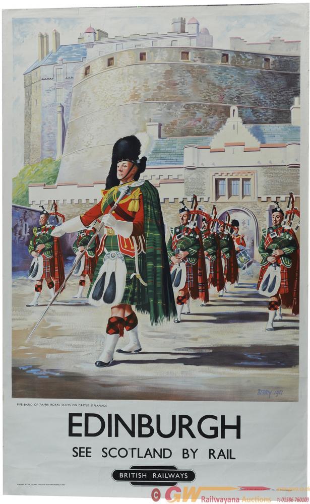 Poster, BR(Sc) 'Edinburgh - See Scotland By Rail'