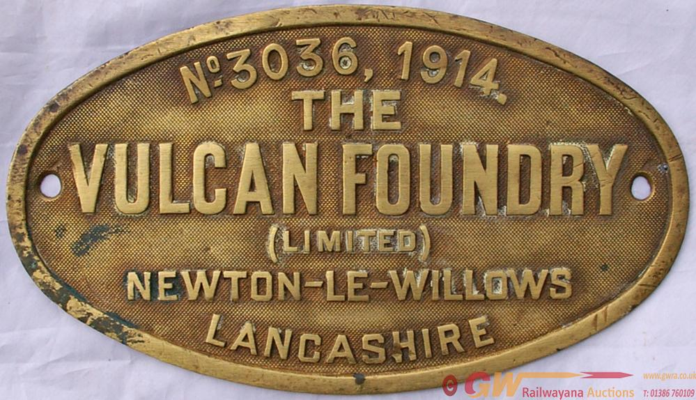 Worksplate The Vulcan Foundry (Limited),