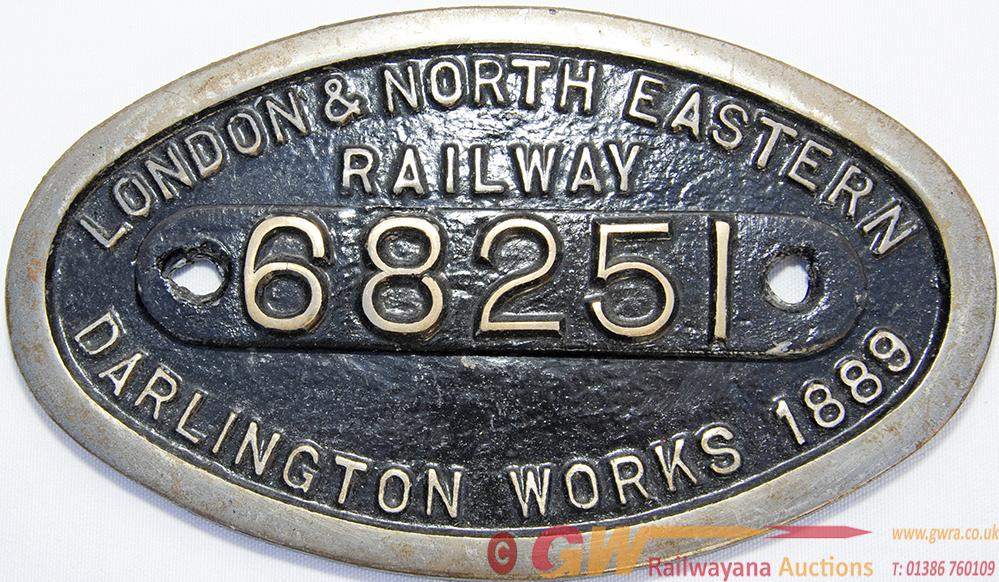 Worksplate 9 X 5 London & North Eastern Railway
