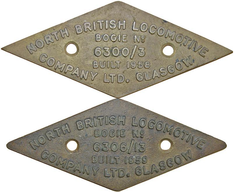 North British Locomotive Company Ltd Glasgow Brass