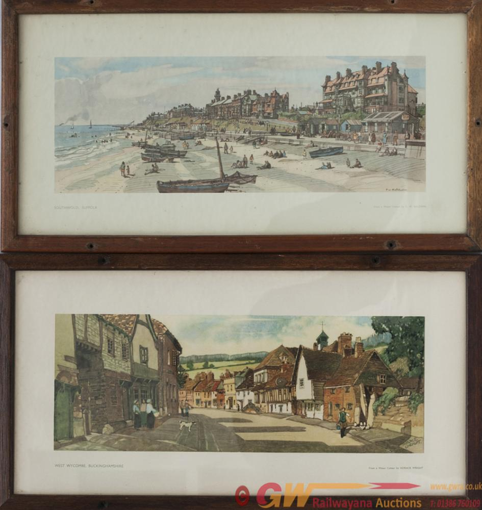 A Pair Of Carriage Prints: SOUTHWOLD SUFFOLK By