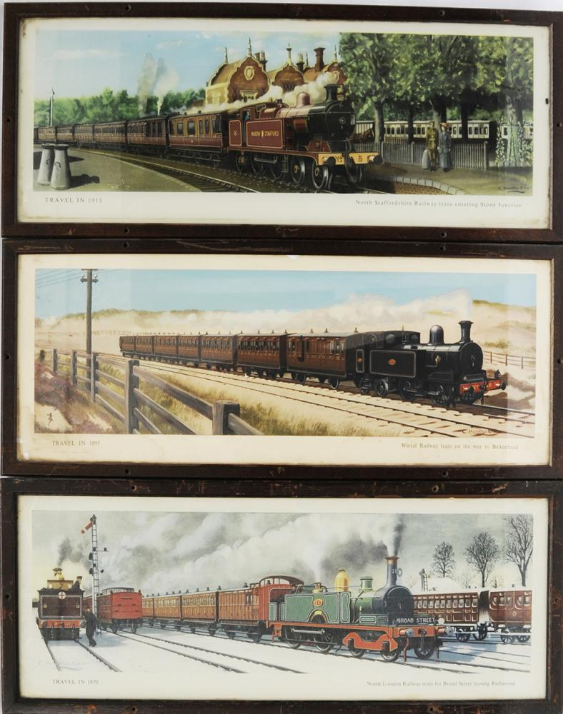 Three Framed And Glazed Carriage Prints (One
