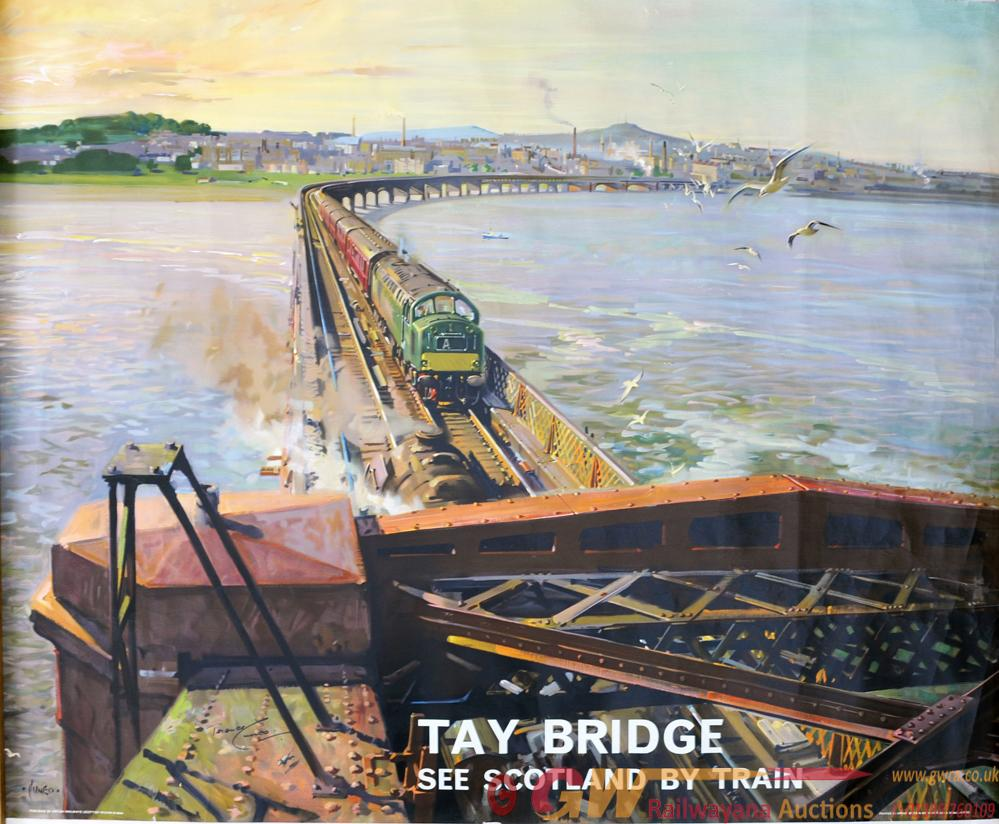 BR Poster 'Tay Bridge - See Scotland By Train' By