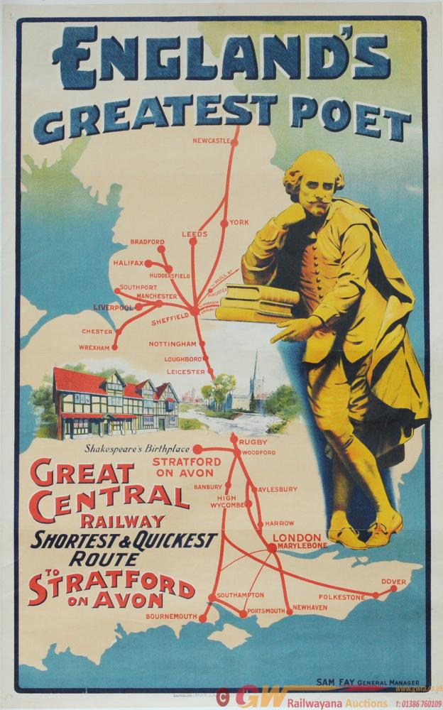 Poster - 'England's Greatest Poet - Great Central