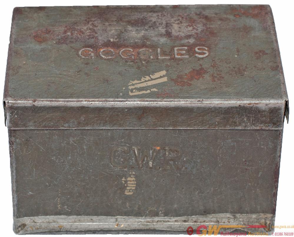 GWR Tinplate Locomotive Drivers Goggles Box,