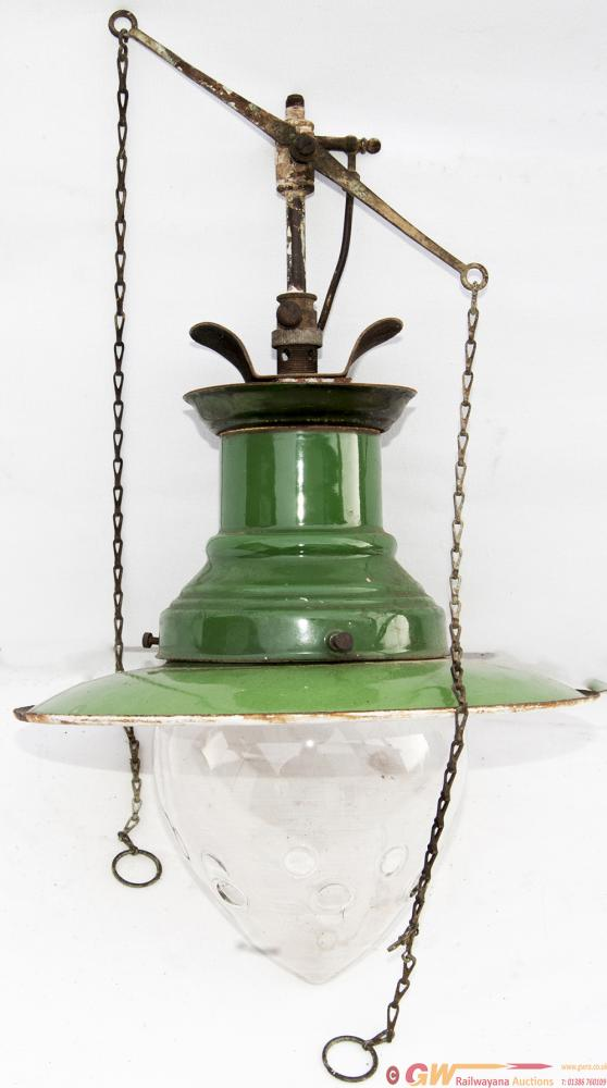 SR Small Sugg Enamel Platform Lamp Complete With