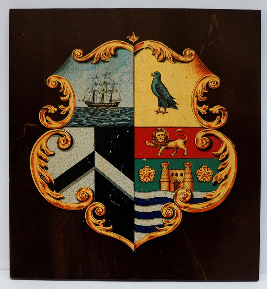 Maryport And Carlisle Railway Mounted Crest. The
