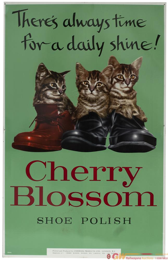 Advertising Sign CHERRY BLOSSOM SHOE POLISH With