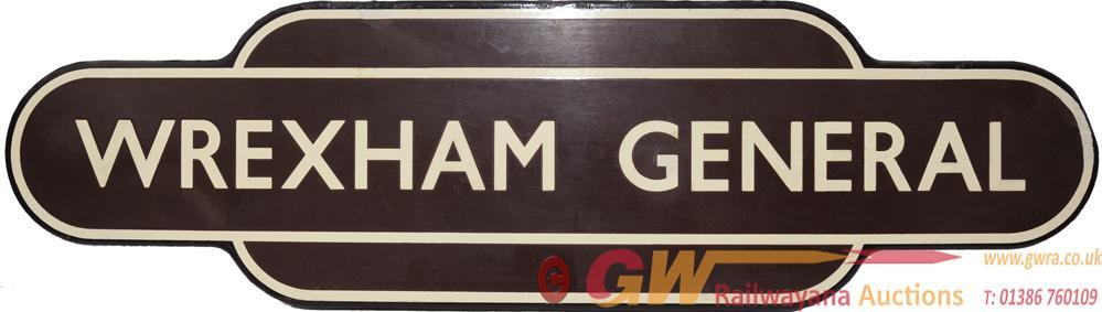 Totem BR(W) WREXHAM GENERAL, F/F. Ex GWR Station