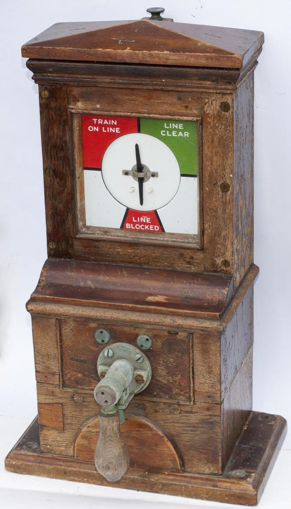 Midland Railway Pegging Block Instrument Stamped