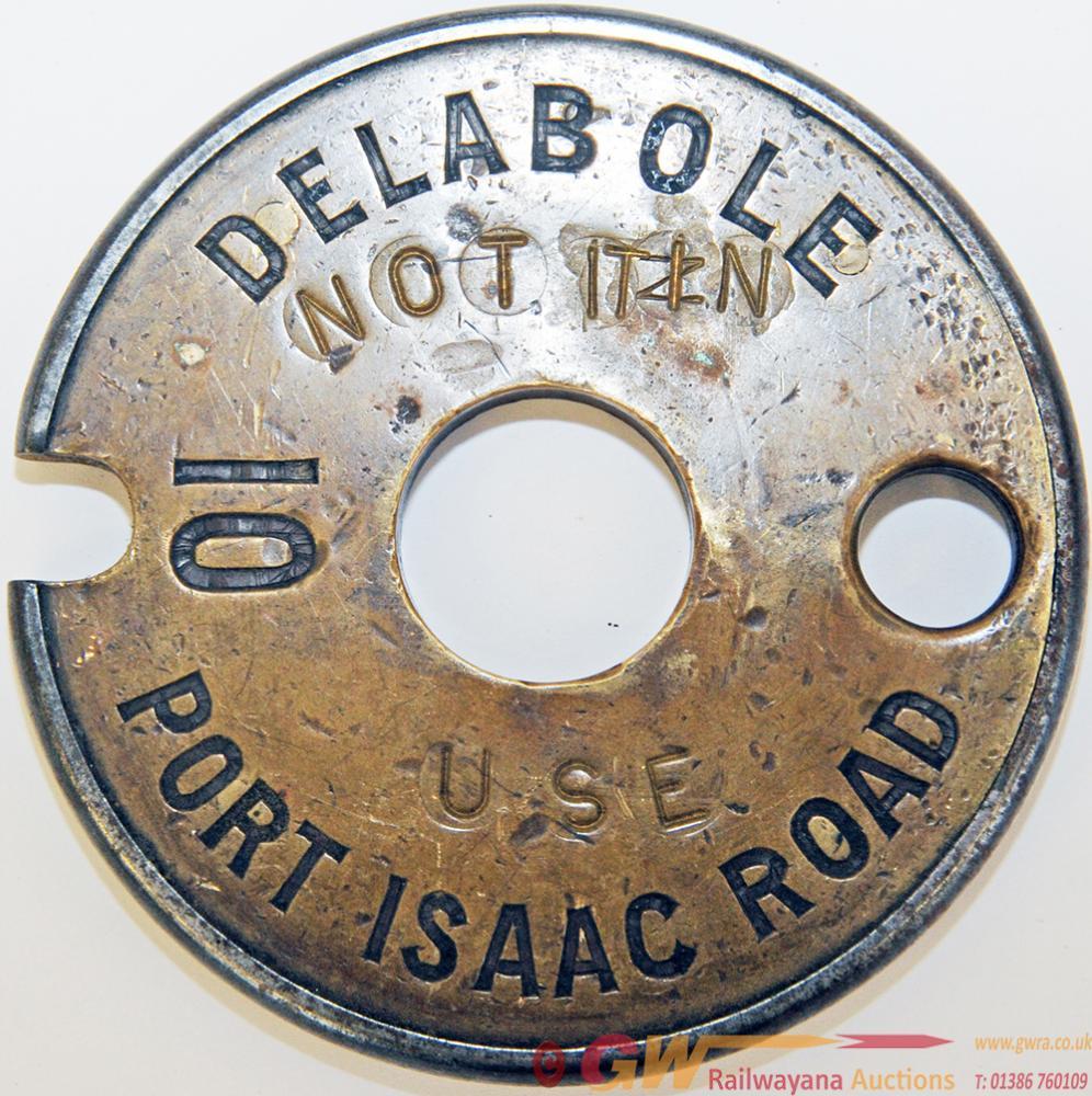 Single Line Brass And Steel Tablet DELABOLE - PORT