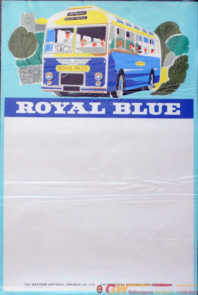Posters, A Pair 'Royal Blue', Double Crown Size 20