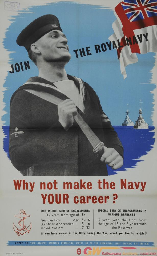 Poster 'Join The Royal Navy - Why Not Make The
