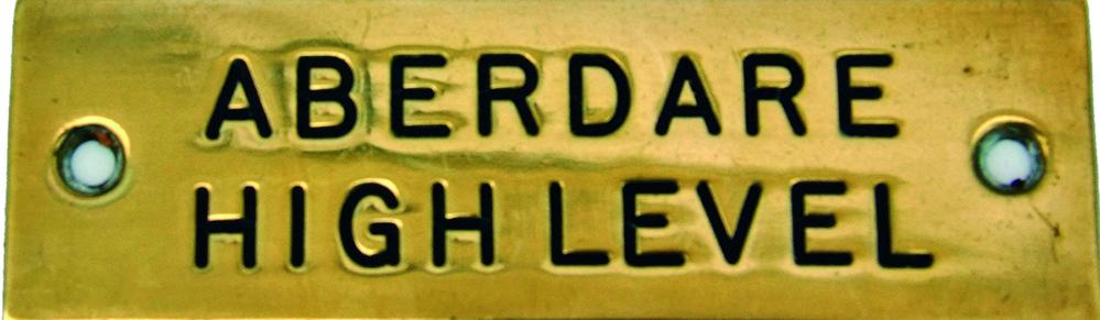 GWR Signal Box Brass Shelf Plate ABERDARE HIGH