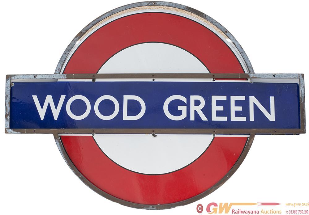 London Underground Enamel Target/Bullseye Sign