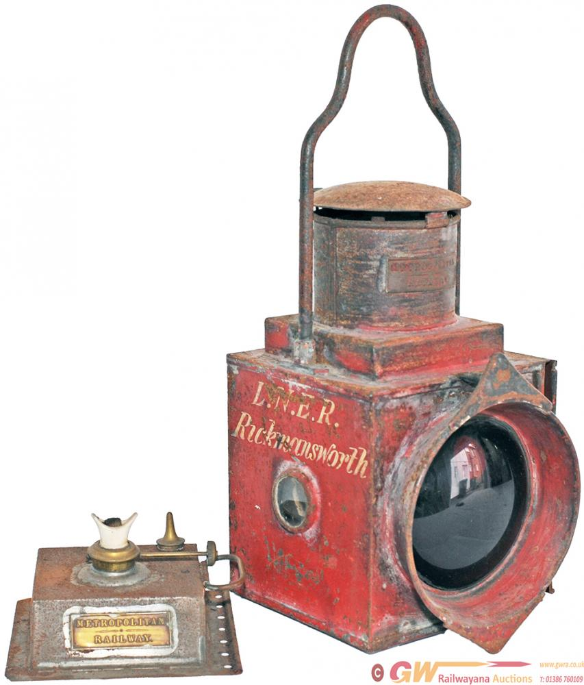 Metropolitan Railway Engine Tail Lamp With Fully