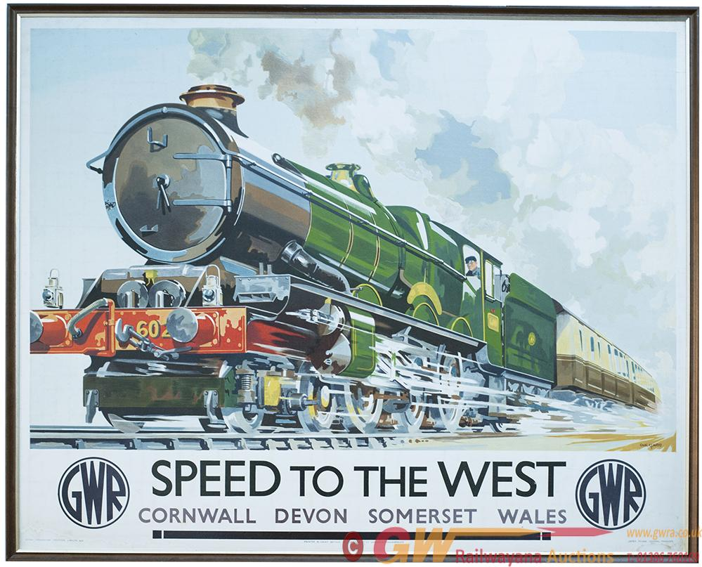 Poster GWR SPEED TO THE WEST By Charles Mayo,
