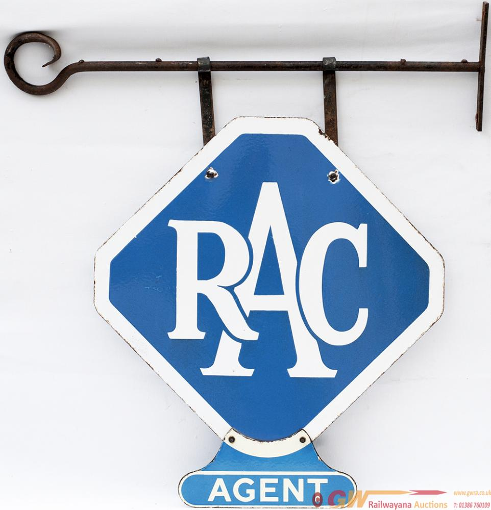 Motoring Advertising Double Sided Enamel Sign RAC