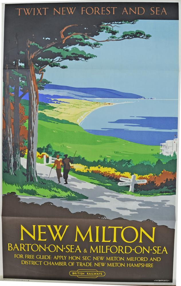 BR Poster, 'Twixt New Forest And Sea - New Milton