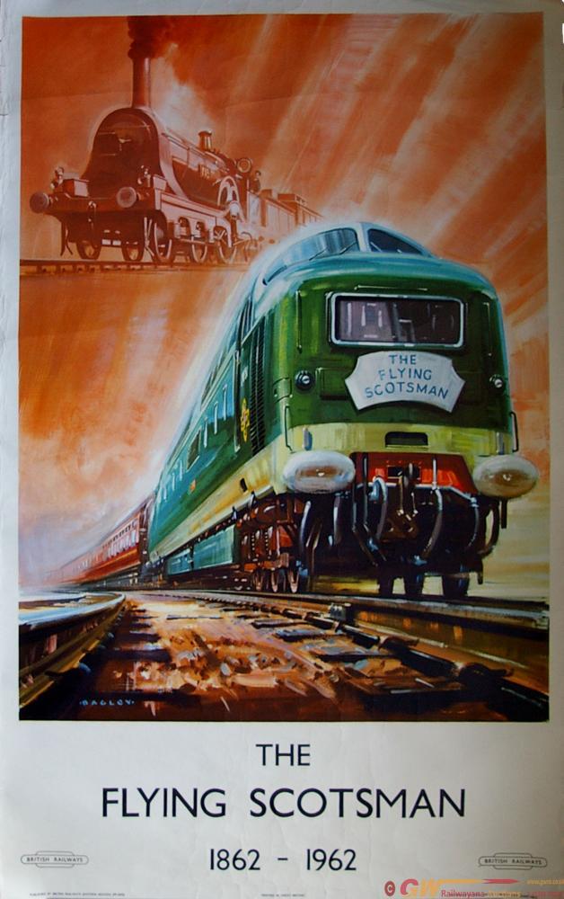 Poster, British Railways The Flying Scotsman 1862