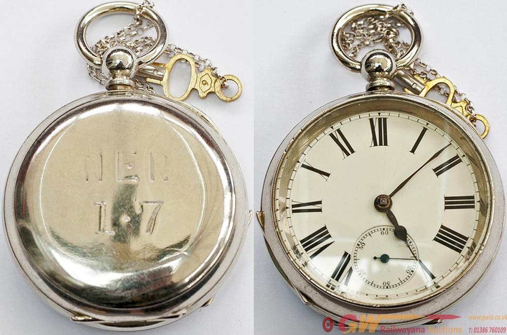North Eastern Railway Pocket Watch. A Vintage Key
