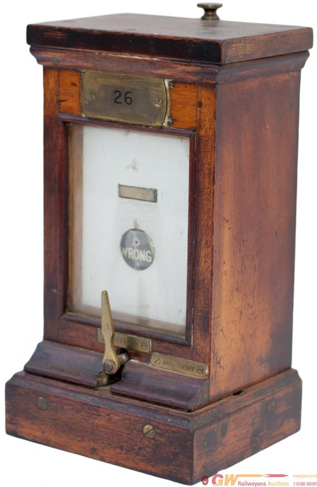 GWR Mahogany Cased Slot Indicator Brass Plated 26